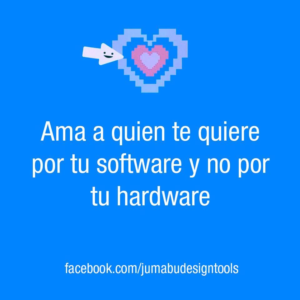 Ama a quien te quiere por tu software y no por tu hardware