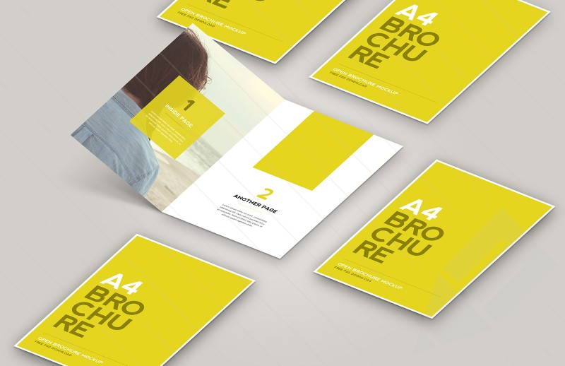 Mock Up en Photoshop para crear un Brochure A4