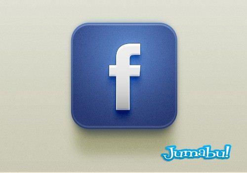 Icono Facebook con Estilo IOS en PSD