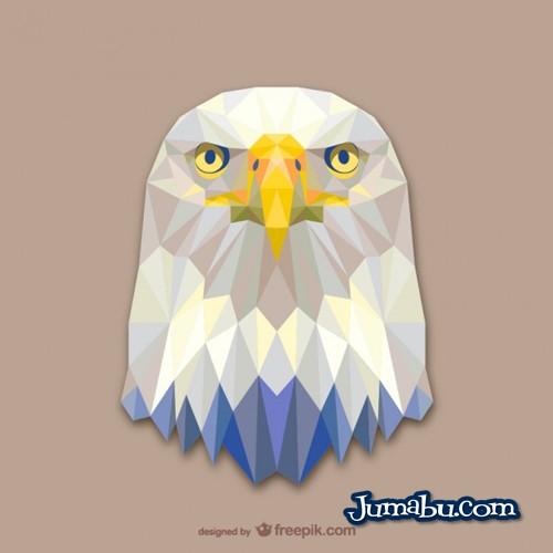 Cabeza de Aguila Vectorizada con Textura Poligonal