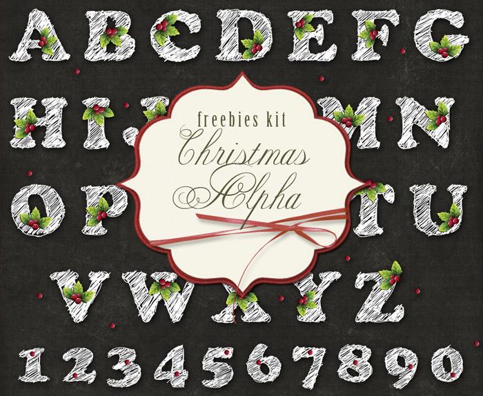 Alfabeto Navideño en Imágenes para Decorar