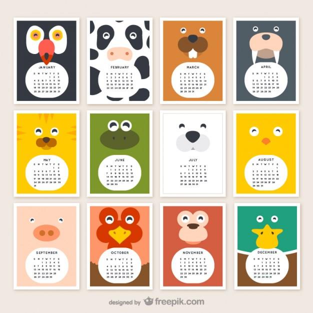 Calendarios 2015 Infantiles