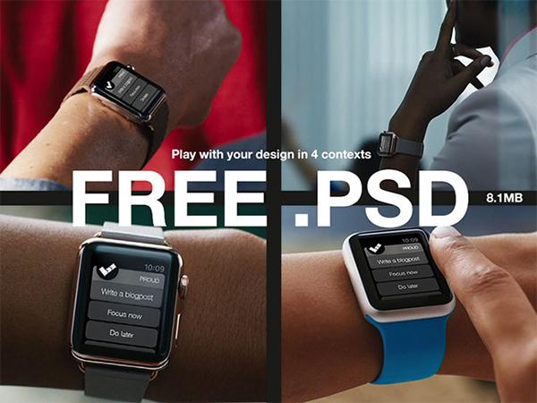 Apple Watch Template en PSD
