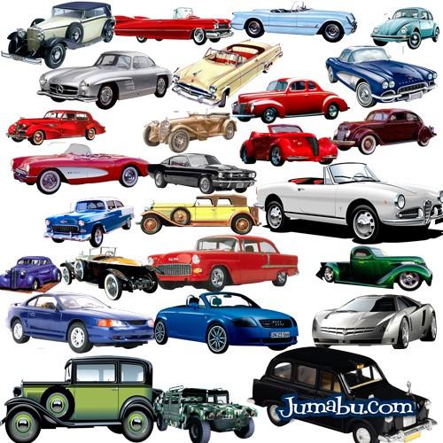 Automóviles Antiguos en PNG Recortados