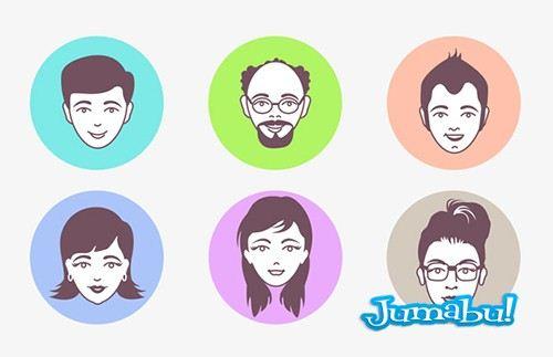 Caras de Personas en Vectores