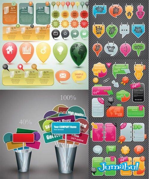 Carteles, Stickers, Inserts, Calcos en VEctores