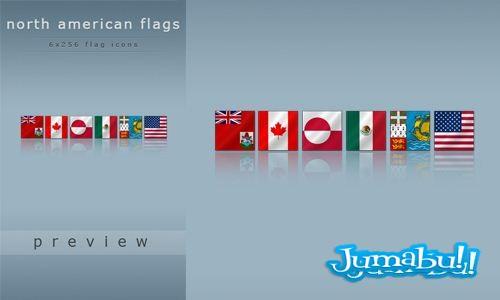 Banderas Norteamericanas en PNG