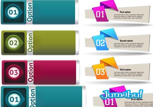 Banners Coloridos en Vectores