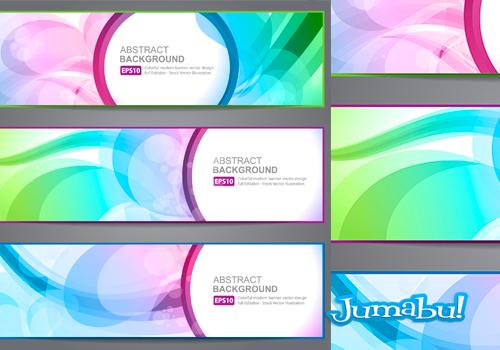 Banners Coloridos con Efectos Transparentes en Vectores