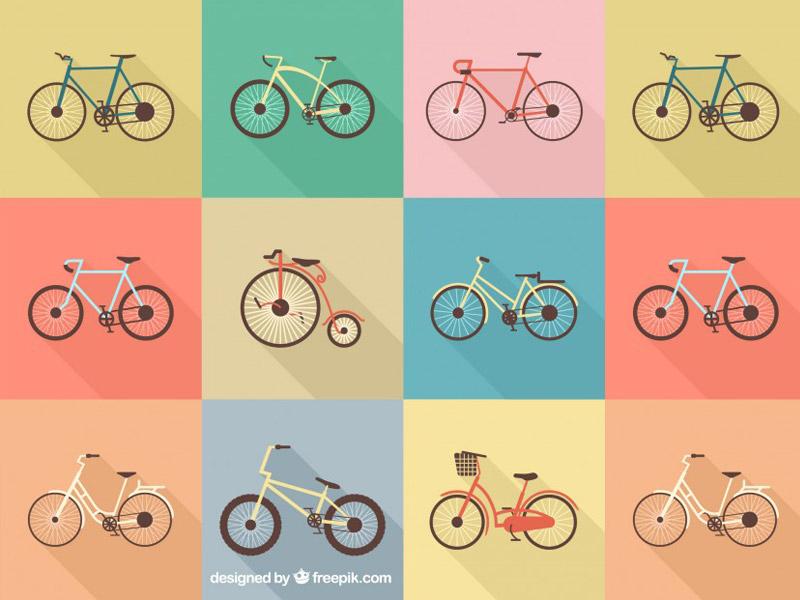 Dibujos de Bicicletas en Vectores para Descargar
