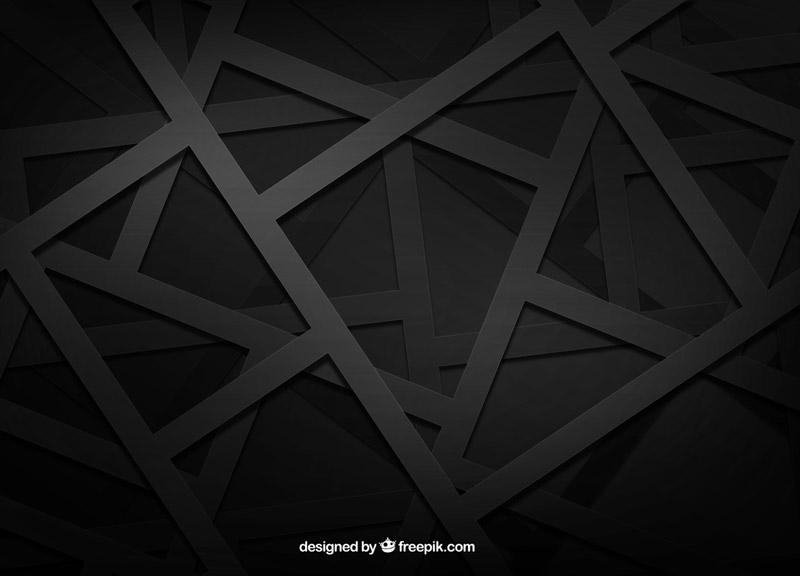 Fondo con Figuras Geométricas Negras Vectorizadas