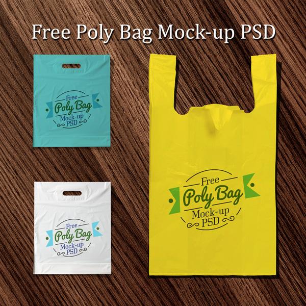 Mock Ups de bolsas plásticas psd