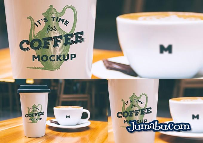 Mock Up de Vaso de Café Grande en PSD
