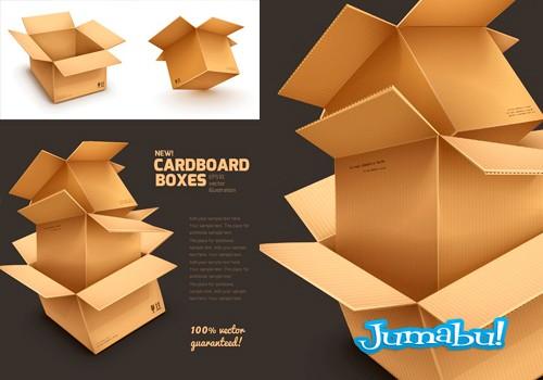 Cajas de Cartón Apiladas en Vectores