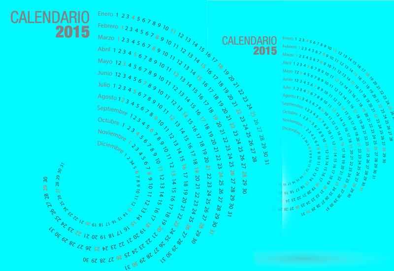Original y Creativo Calendario 2015