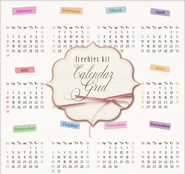 Calendario 2016 en PNG  para Descargar