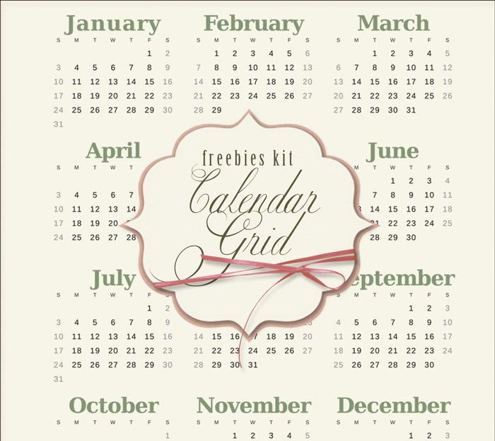 Calendario 2016 para Imprimir Gratuito