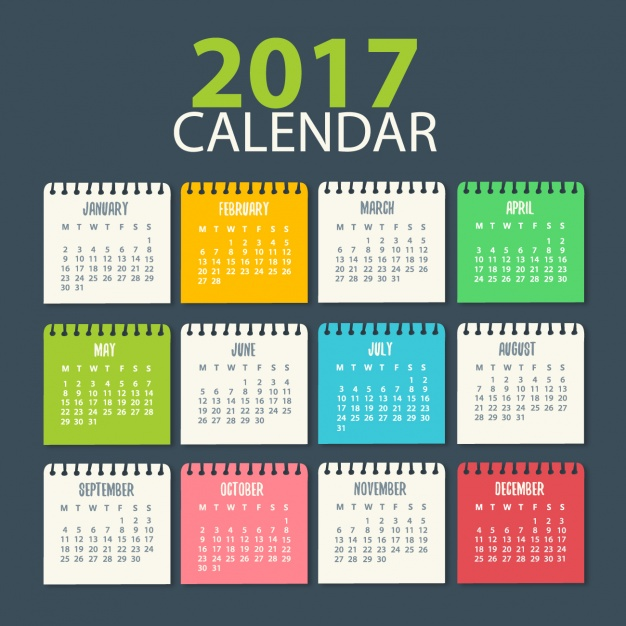 Calendario 2017 para descargar gratis