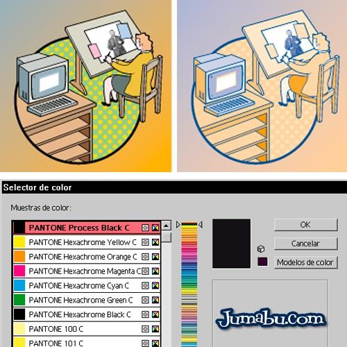 Tutorial Illustrator – Pasar a 2 o 3 Tintas una Imagen Vectorial