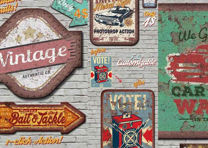 Cómo hacer un Cartel Antiguo Oxidado con Photoshop?