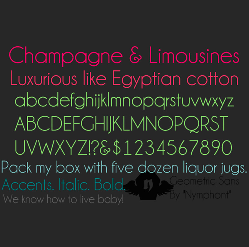 Tipografía Gratuita Champagne & Limousine