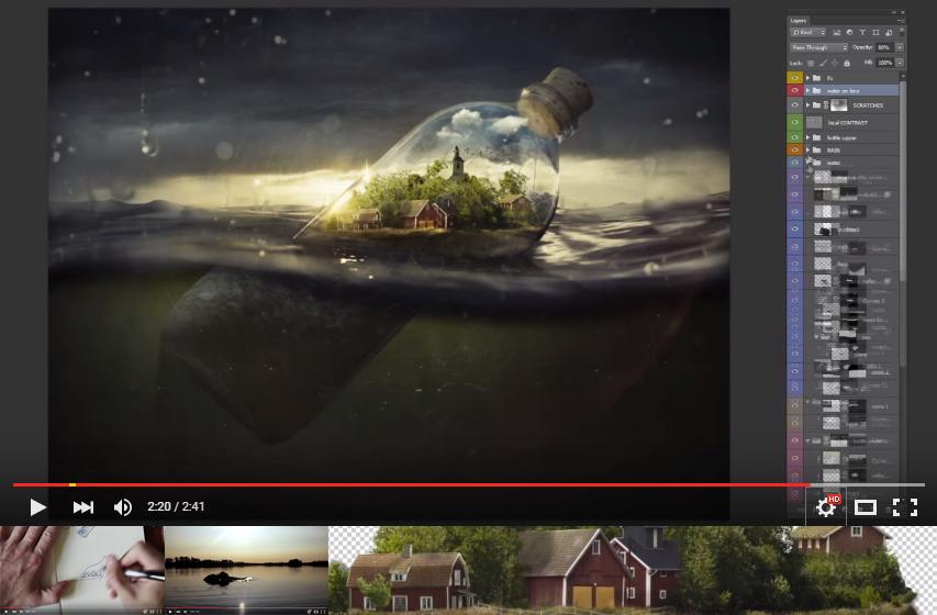 Video que nos Muestra Como hacer un FotoMontaje con Photoshop