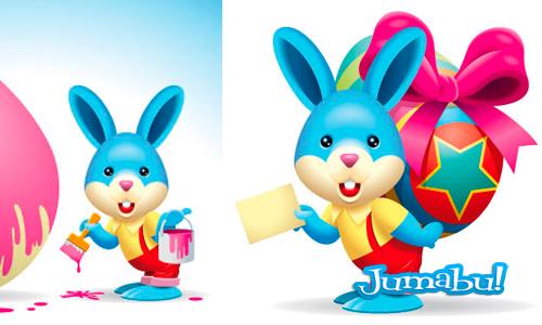 Conejos de Pascuas en Vectores