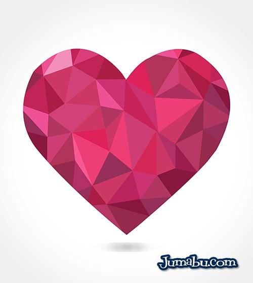 Corazón Diamantado San Valentín Vector