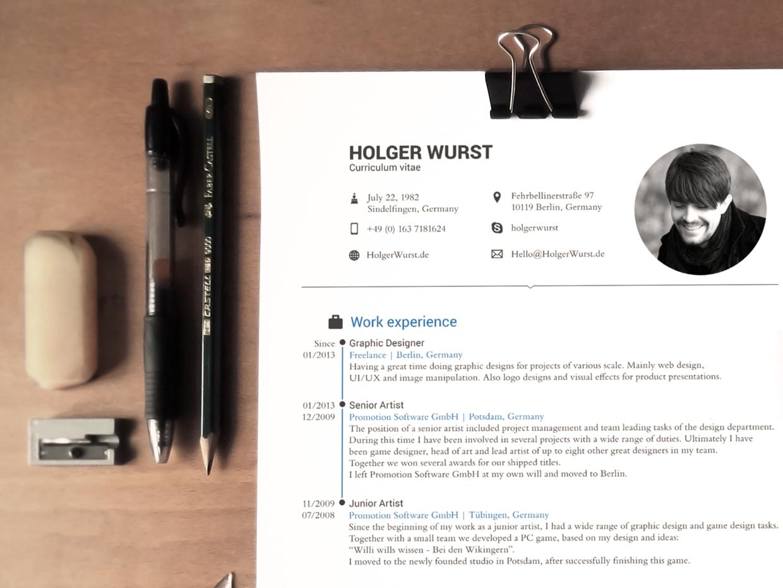 Modelo de Curriculum fotorrealista para buscar trabajo