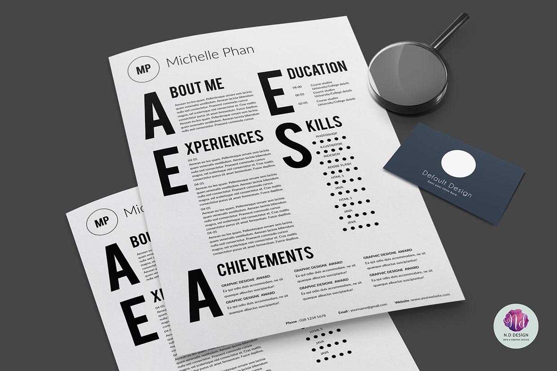 Modelo 2015 de Curriculum Vitae Tipográfico