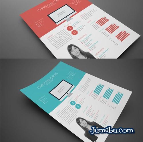 Plantilla de Curriculum Vitae Moderno para Editar con InDesign