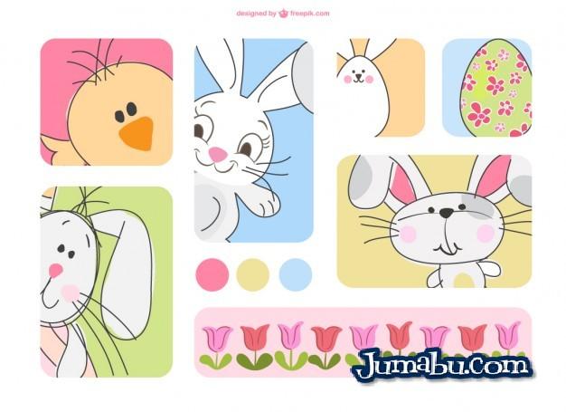 Dibujos en Vectores para Pascuas