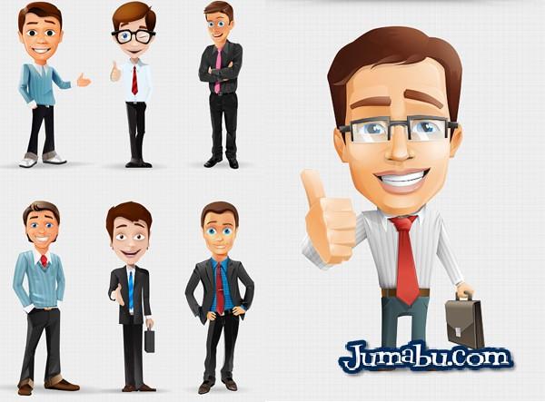 Descarga Dibujos de Hombres de Oficina en PSD