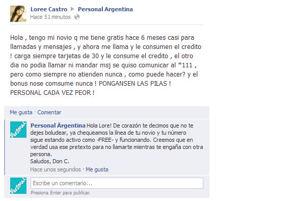 Don C – El usuario de Facebook que dió Soporte a Personal