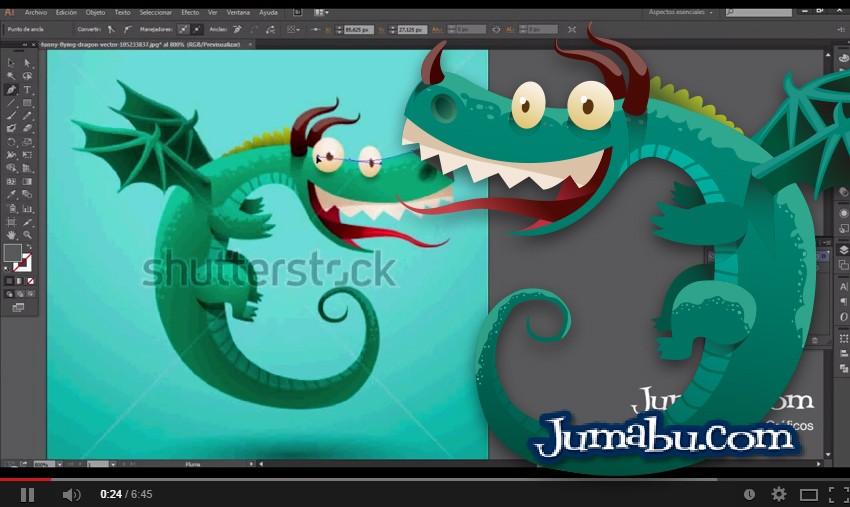 Cómo Dibujar con Illustrator un Dragón en Vectores