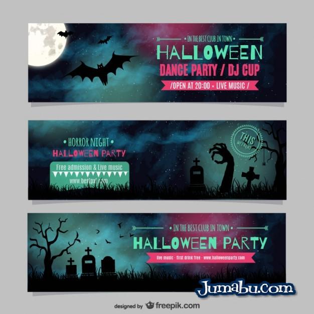 Banners Vectores Gratis para Halloween