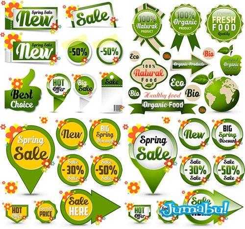 Etiquetas para Colocar Precios y Promociones en Vectores