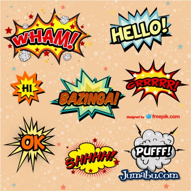 Exclamaciones de Comics en Vectores