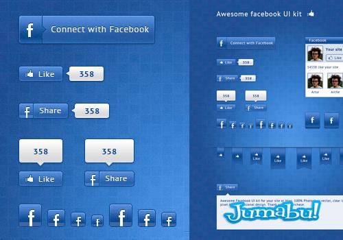 Elementos Facebook en PSD para Editar
