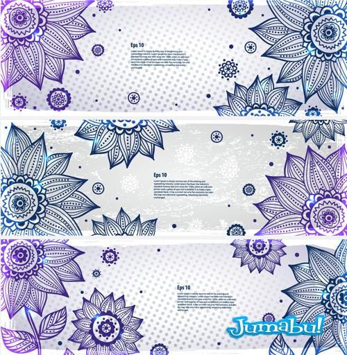Flores en Vectores Dibujadas con Delicadas Líneas