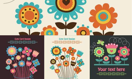 Flores Coloridas Vectorizadas