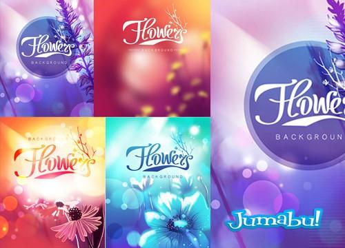 Coloridas Flores Vectorizadas para Descargar