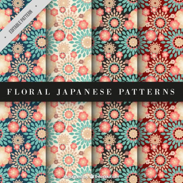 Fondos florales japoneses en vectores para descargar gratis