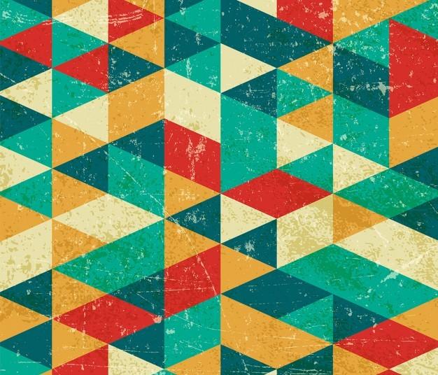 Fondo geométrico en vectores con estilo retro