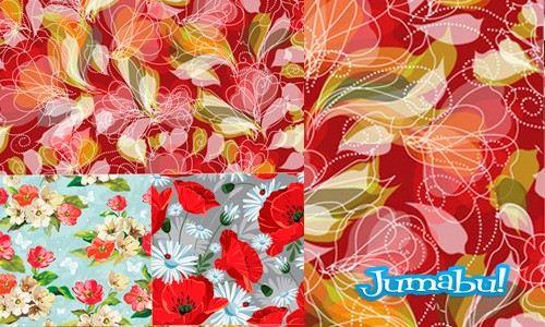Fondo Coloridos con Flores en Vectores