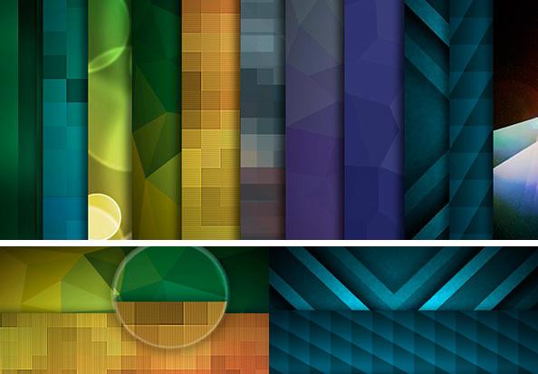 Fondos geométricos super coloridos