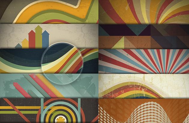 fondos-geometricos-vintage-psd