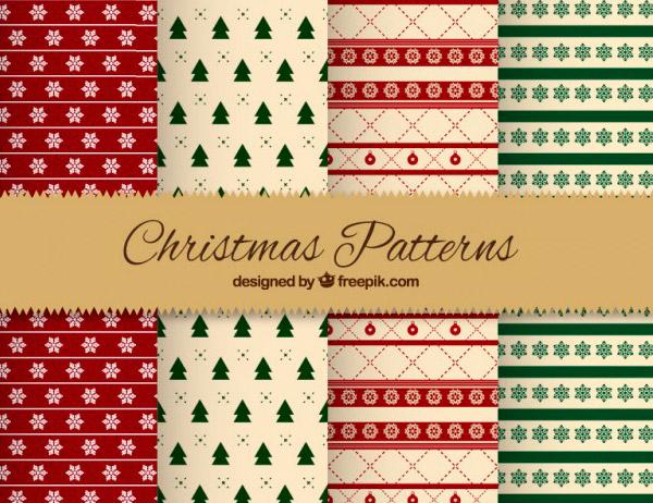 Texturas en Vectores para Decorar en Navidad