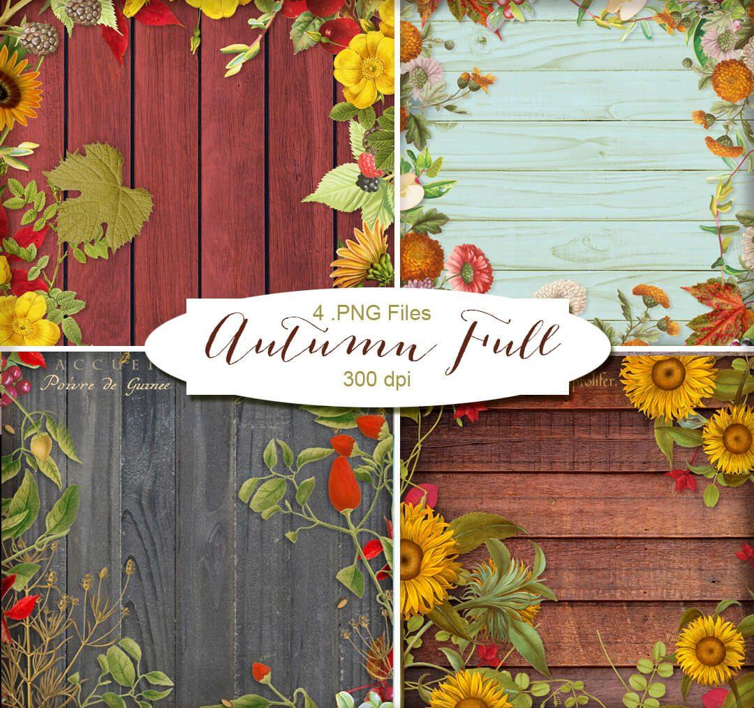 Imágenes HD de maderas decoradas con flores