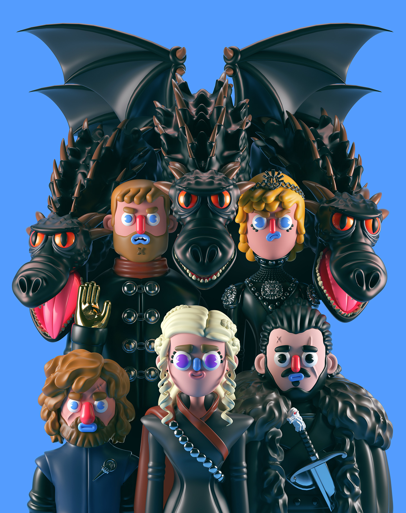 games of thrones comic art - Conoce los personajes de Games of Thrones en 3D (Fan Art)